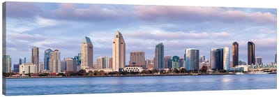 USA, California, San Diego, Panoramic view of city skyline Canvas Art Print