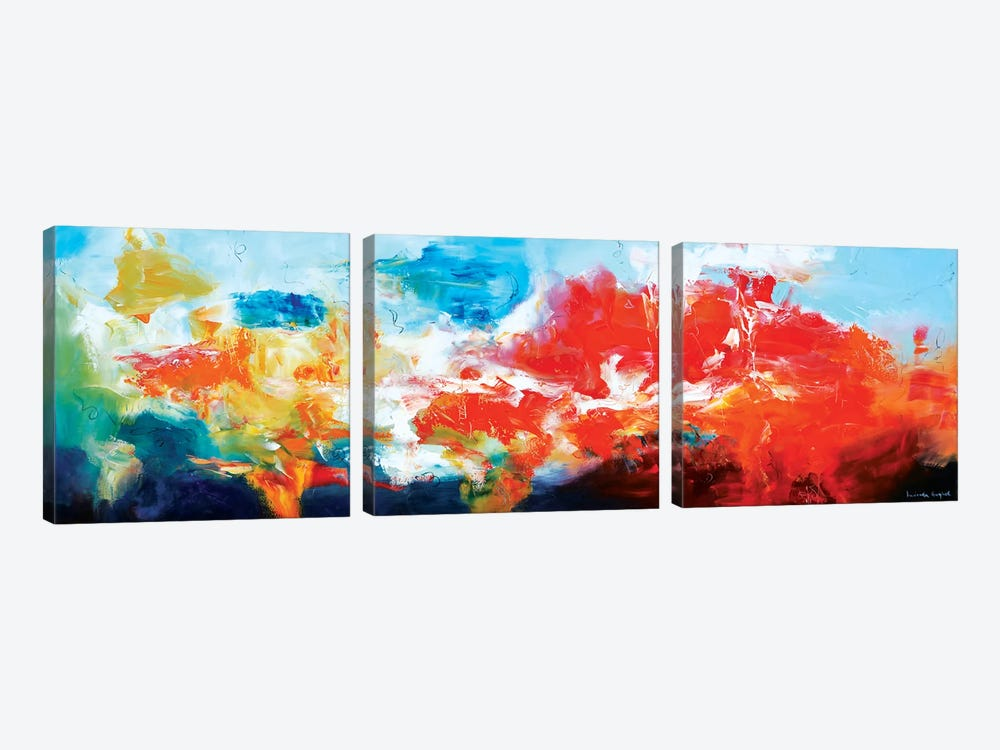 Hiding Below The Edge Of The Universe by Andrada Anghel 3-piece Canvas Art Print
