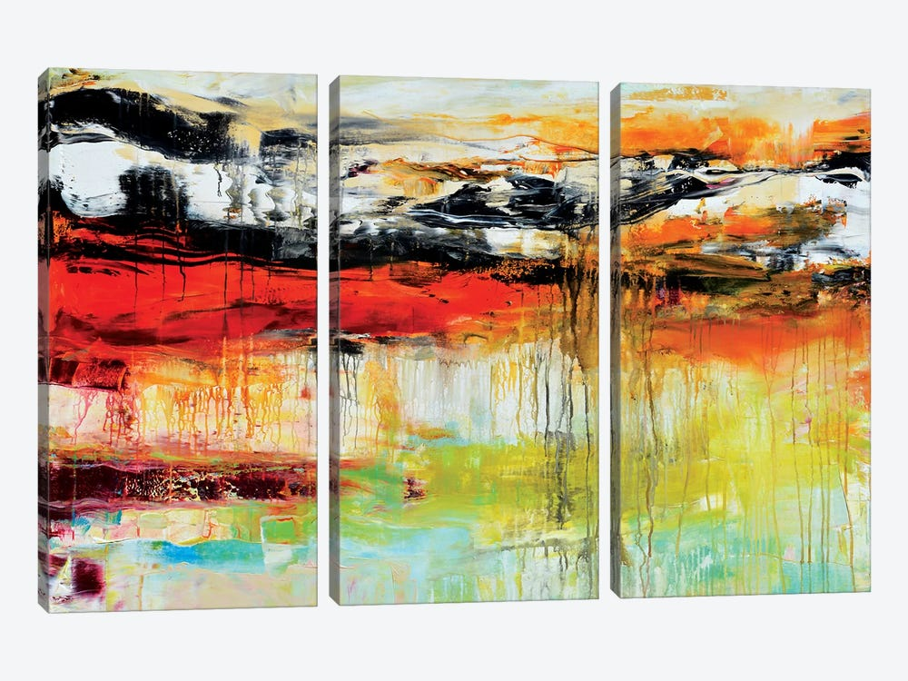 My Teeming With Life Universe by Andrada Anghel 3-piece Canvas Artwork