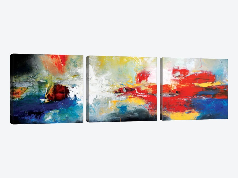 Flowing Breath by Andrada Anghel 3-piece Canvas Art Print
