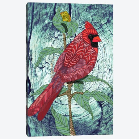 Virginia Cardinal Canvas Print #ANG101} by Angelika Parker Canvas Print