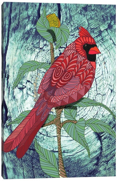 Virginia Cardinal by Angelika Parker Canvas Art Print