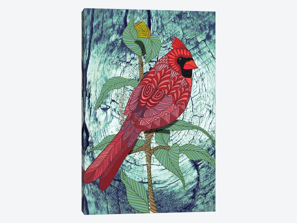 Virginia Cardinal by Angelika Parker 1-piece Canvas Art Print