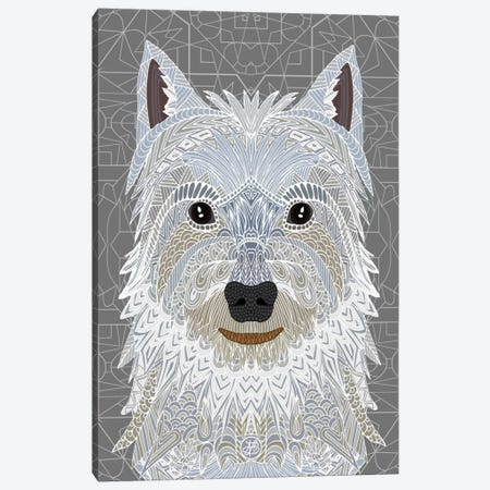 Westie Canvas Print #ANG103} by Angelika Parker Art Print