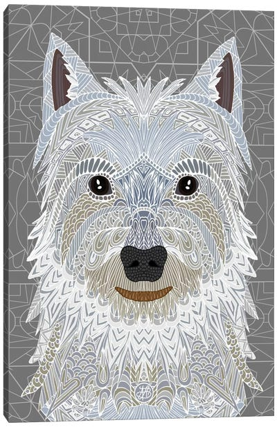 Westie Canvas Print #ANG103