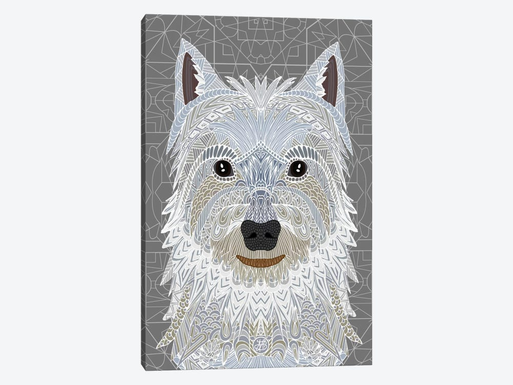Westie by Angelika Parker 1-piece Canvas Print
