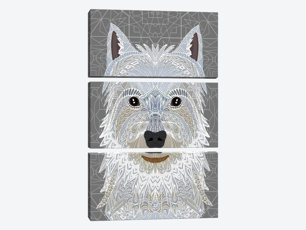 Westie by Angelika Parker 3-piece Art Print