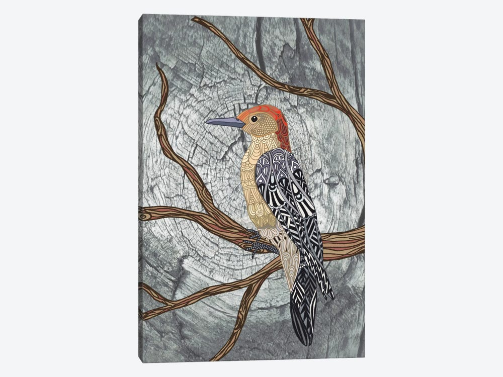 Woodpecker by Angelika Parker 1-piece Canvas Wall Art