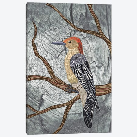 Woodpecker Canvas Print #ANG106} by Angelika Parker Canvas Artwork