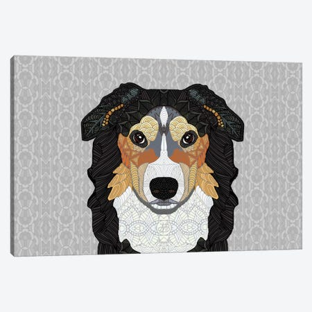 Zecke - Mountain Dog Canvas Print #ANG107} by Angelika Parker Canvas Artwork