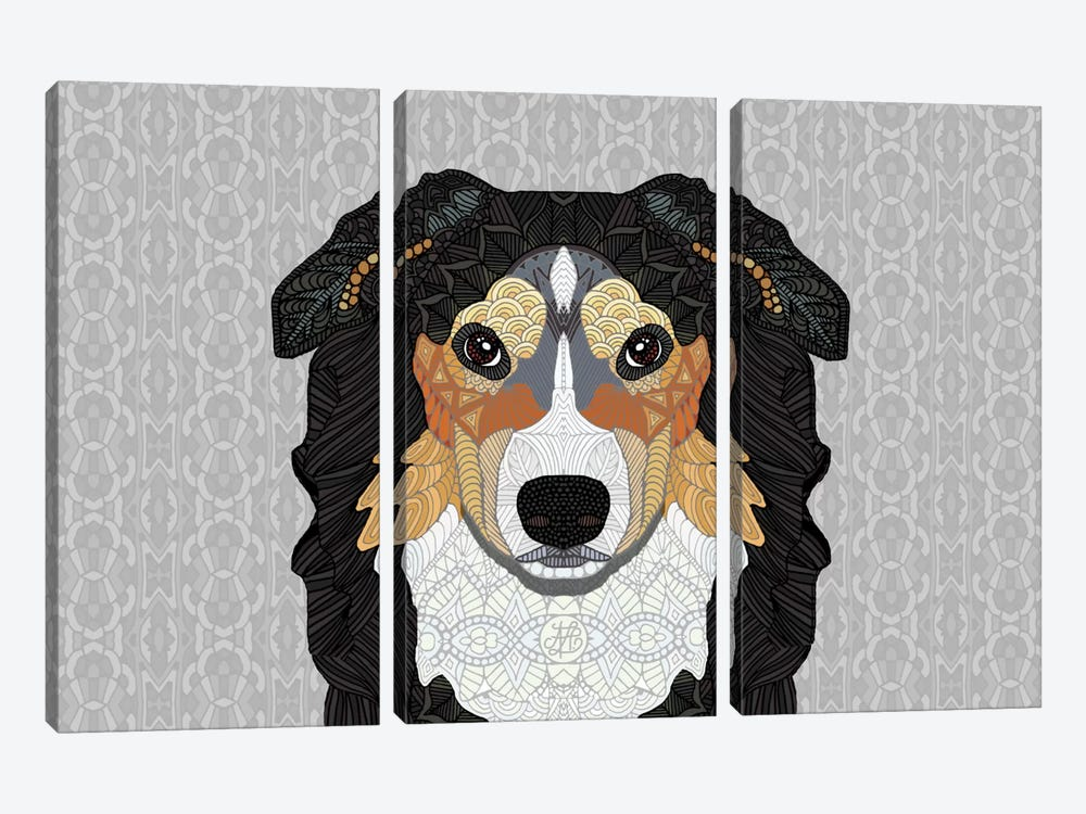 Zecke - Mountain Dog by Angelika Parker 3-piece Canvas Print