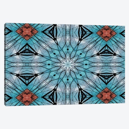 Blue Star Mandala Canvas Print #ANG10} by Angelika Parker Canvas Art