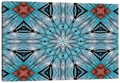 Blue Star Mandala Canvas Art Print