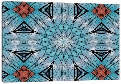 Blue Star Mandala Canvas Print #ANG10