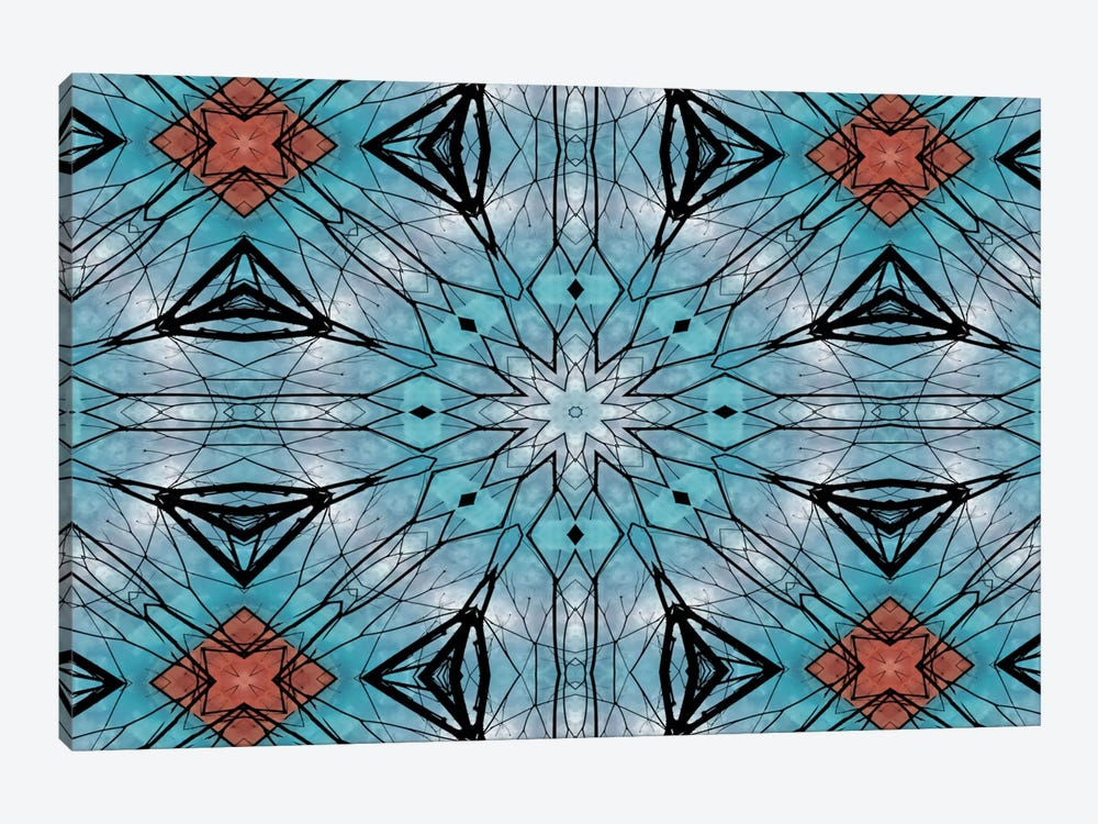 Blue Star Mandala by Angelika Parker 1-piece Canvas Print