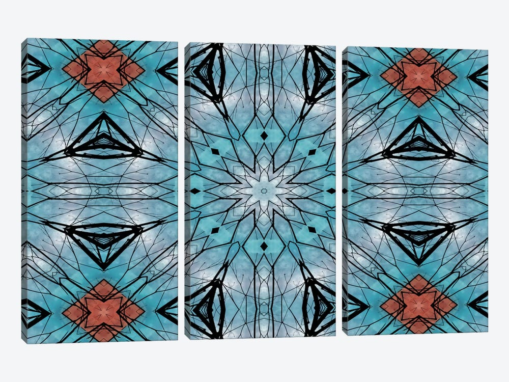 Blue Star Mandala 3-piece Art Print