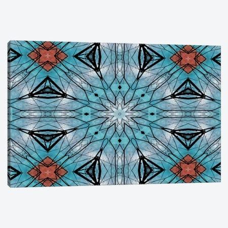 Blue Star Mandala Canvas Print #ANG10} by Angelika Parker Canvas Art
