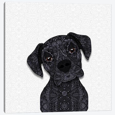 Black Boxer Canvas Print #ANG111} by Angelika Parker Canvas Artwork