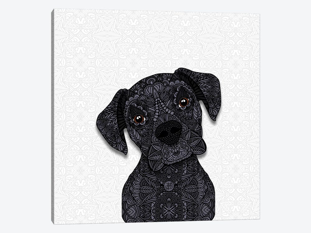 Black Boxer by Angelika Parker 1-piece Canvas Wall Art
