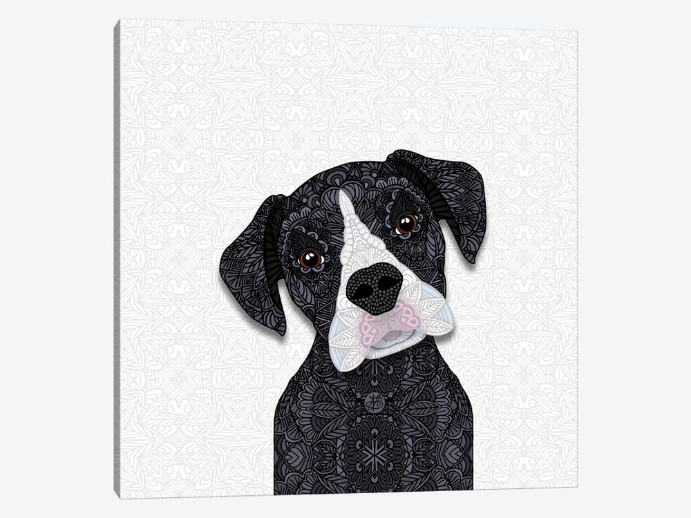 Black Boxer, White Snout by Angelika Parker 1-piece Art Print