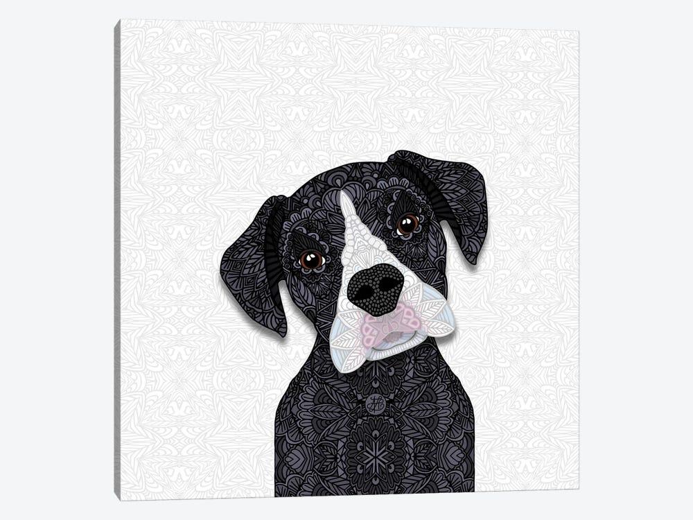 Black Boxer, White Snout by Angelika Parker 1-piece Art Print