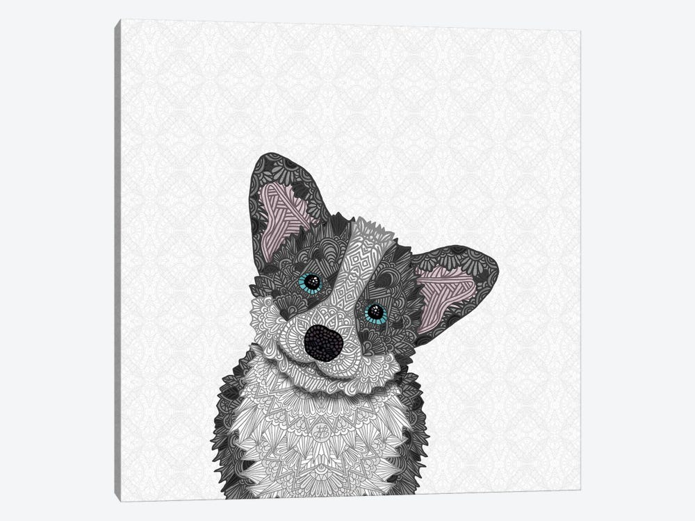 Blue Corgi by Angelika Parker 1-piece Art Print