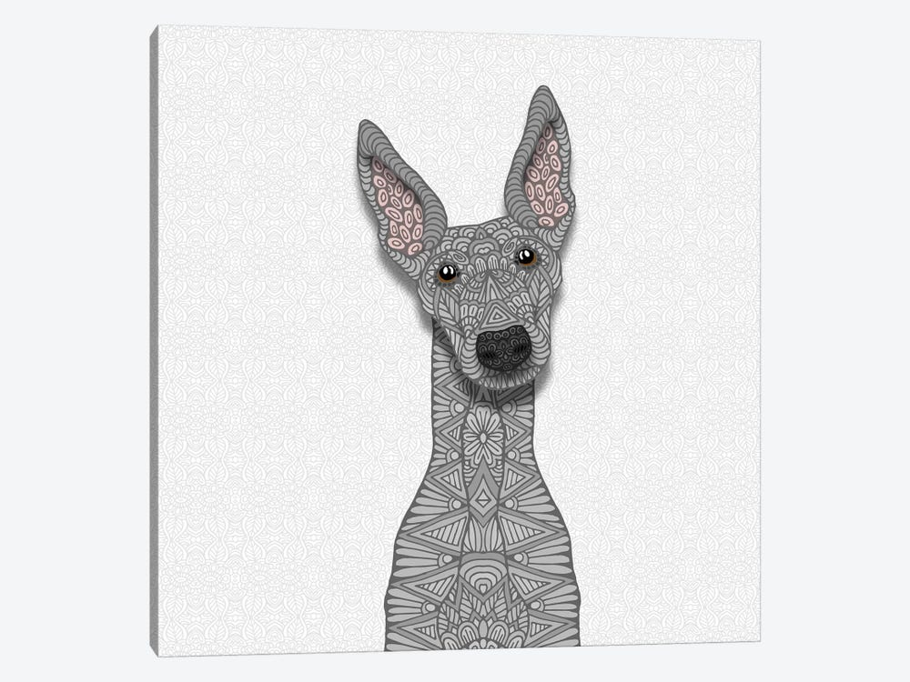 Blue Greyhound by Angelika Parker 1-piece Canvas Artwork