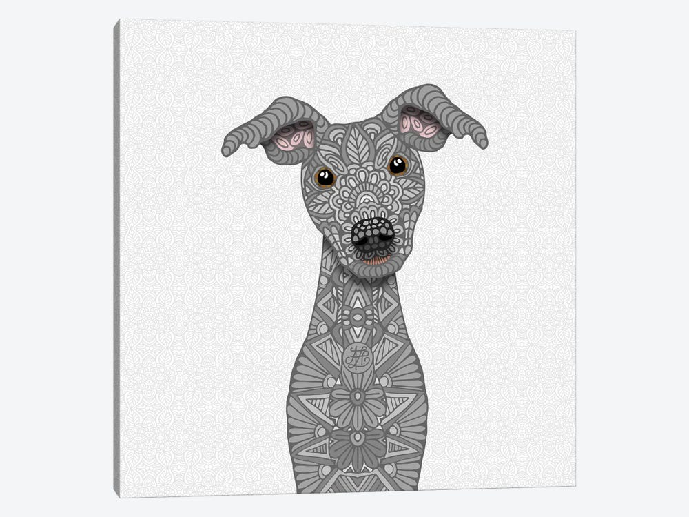 Blue Iggy by Angelika Parker 1-piece Canvas Print