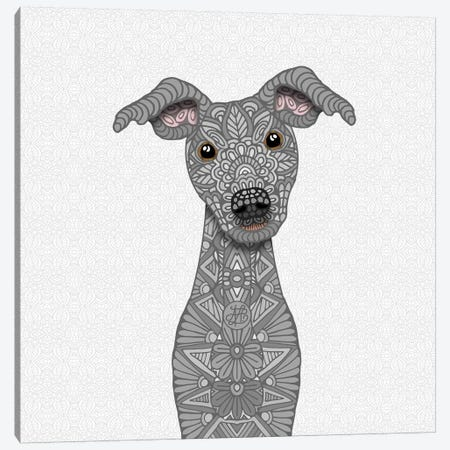 Blue Iggy Canvas Print #ANG116} by Angelika Parker Canvas Print