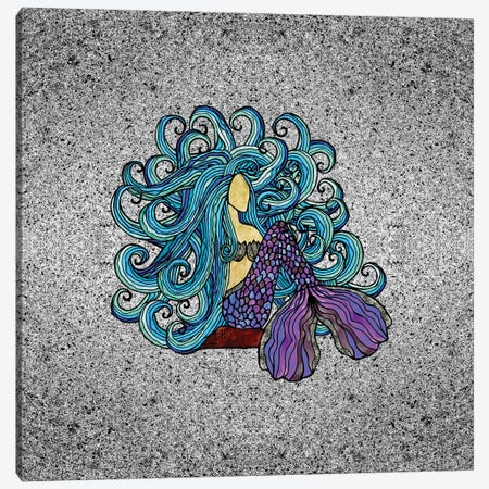 Blue Mermaid Canvas Print #ANG117} by Angelika Parker Art Print