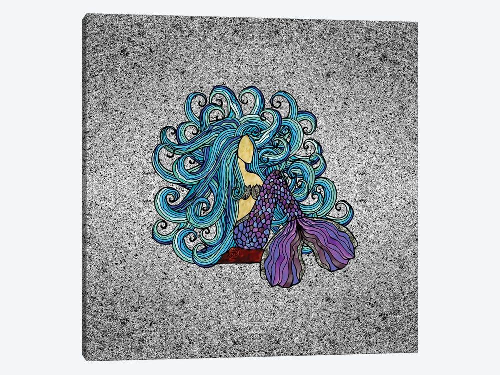 Blue Mermaid by Angelika Parker 1-piece Canvas Art