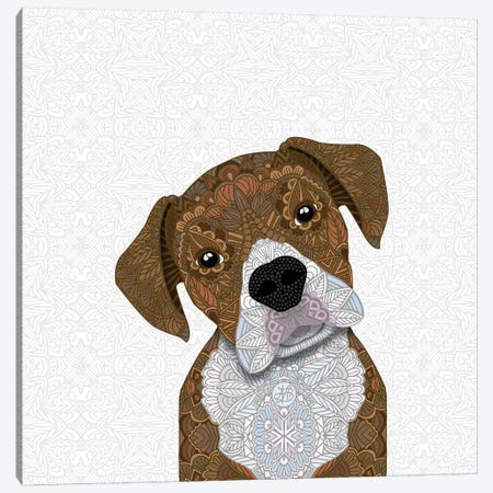 Boxer Dog Canvas Print #ANG122} by Angelika Parker Canvas Art Print