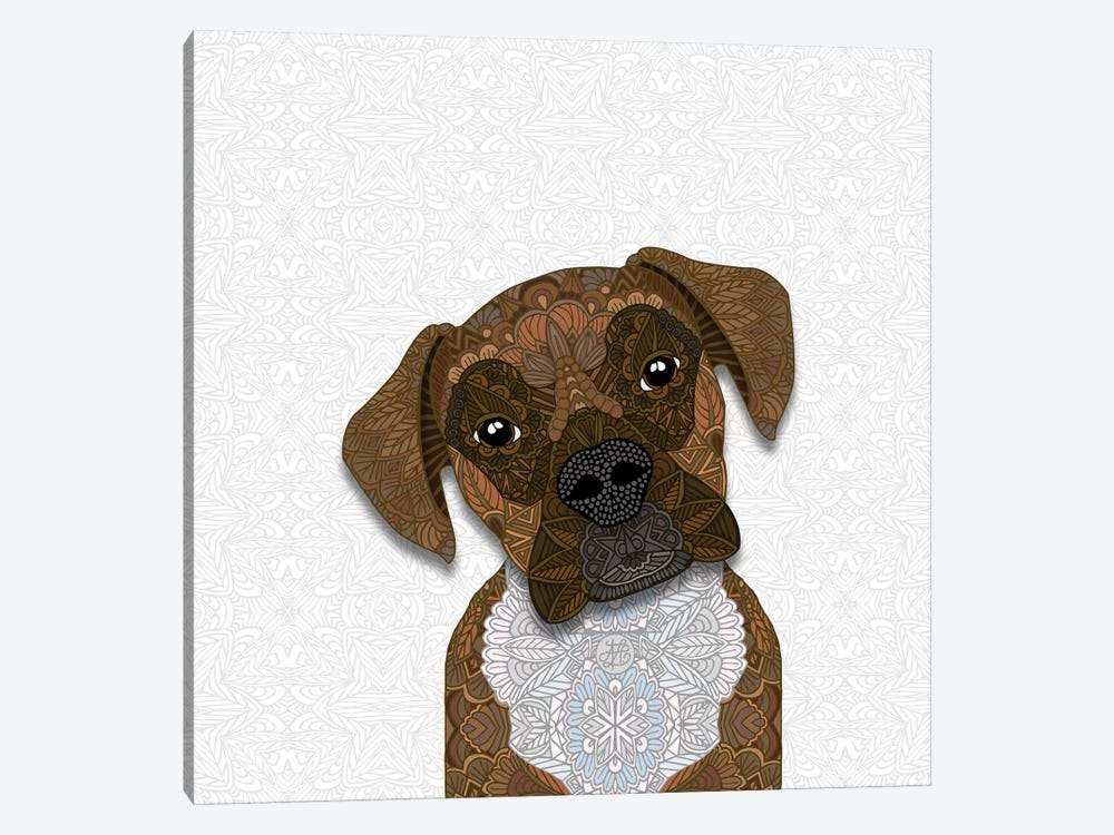 Brindle Boxer by Angelika Parker 1-piece Art Print