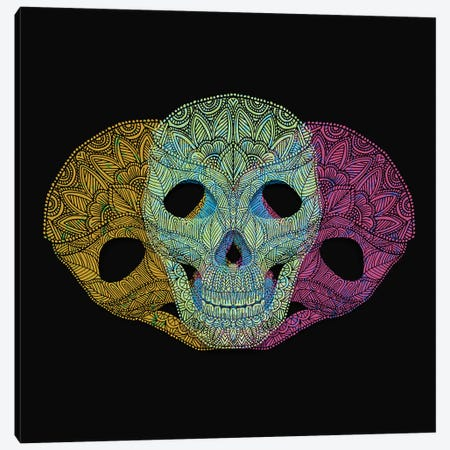 Colorful Skulls Canvas Print #ANG128} by Angelika Parker Canvas Print