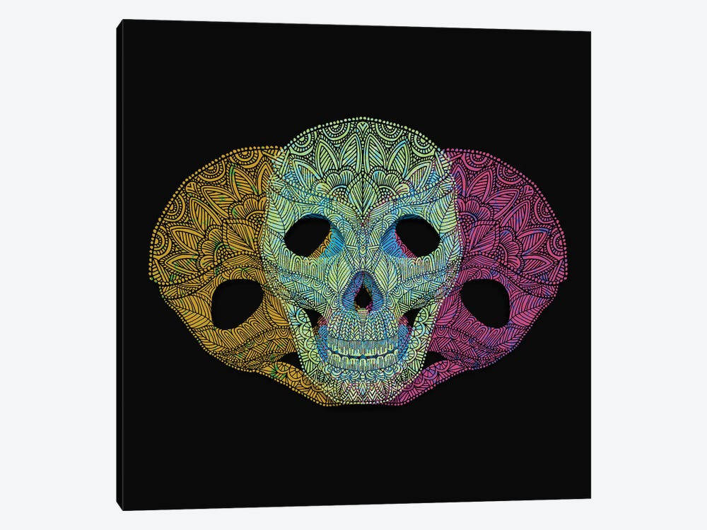 Colorful Skulls by Angelika Parker 1-piece Canvas Art