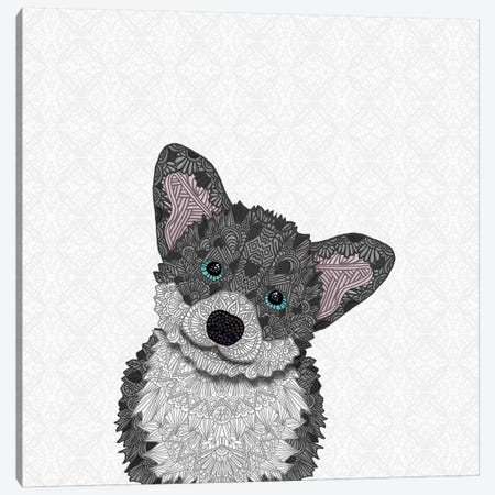 Cute Blue Corgi Canvas Print #ANG131} by Angelika Parker Canvas Art