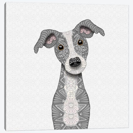 Cute Blue Iggy Canvas Print #ANG133} by Angelika Parker Canvas Art