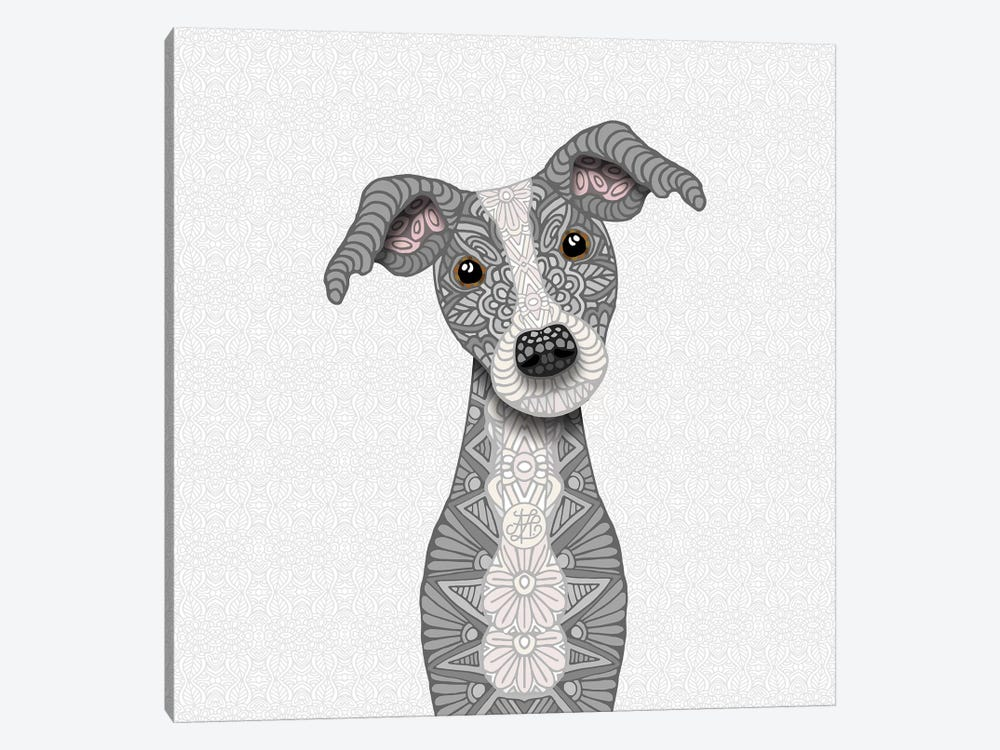 Cute Blue Iggy by Angelika Parker 1-piece Canvas Artwork