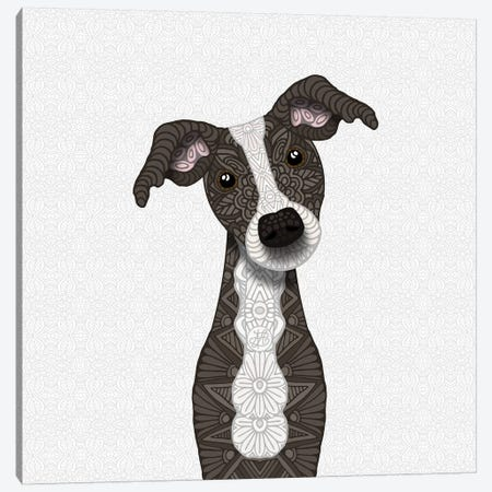 Cute Brindle Iggy Canvas Print #ANG136} by Angelika Parker Canvas Print