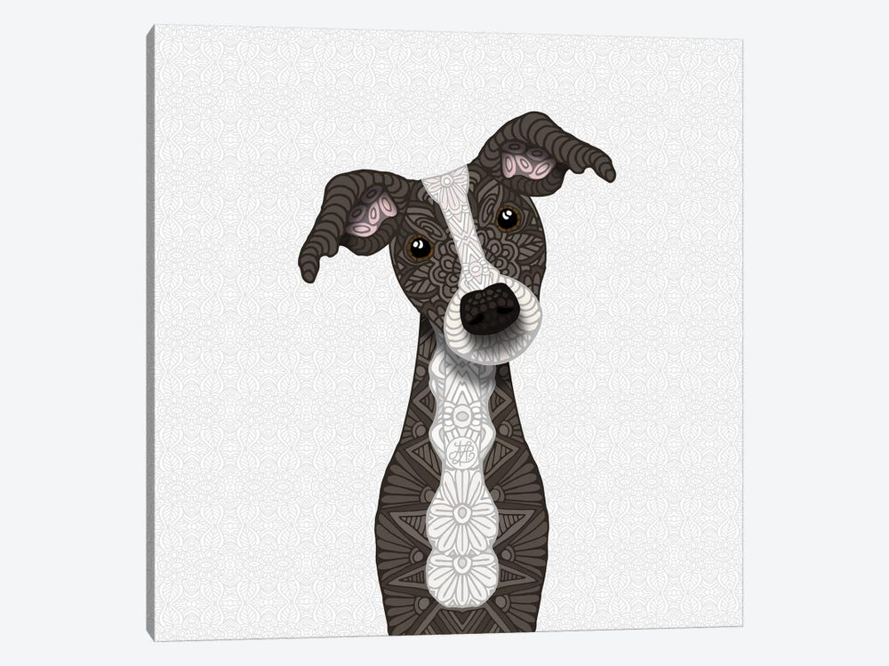 Cute Brindle Iggy by Angelika Parker 1-piece Canvas Print