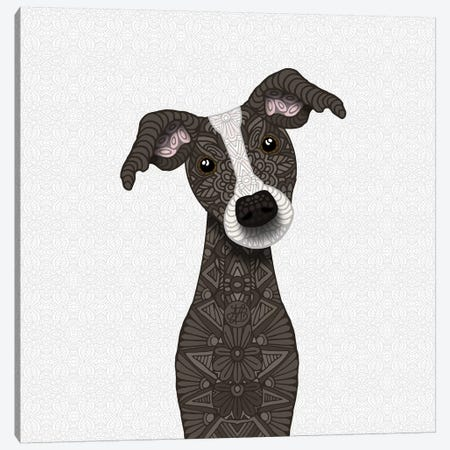 Cute Brindle Iggy Dog Canvas Print #ANG137} by Angelika Parker Art Print