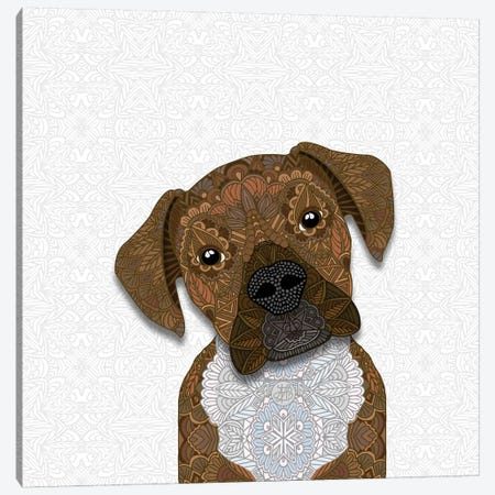 Cute Fawn Boxer Canvas Print #ANG138} by Angelika Parker Canvas Art