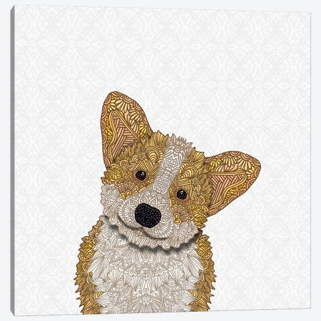 Cute Fawn Corgi Canvas Print #ANG139} by Angelika Parker Canvas Art