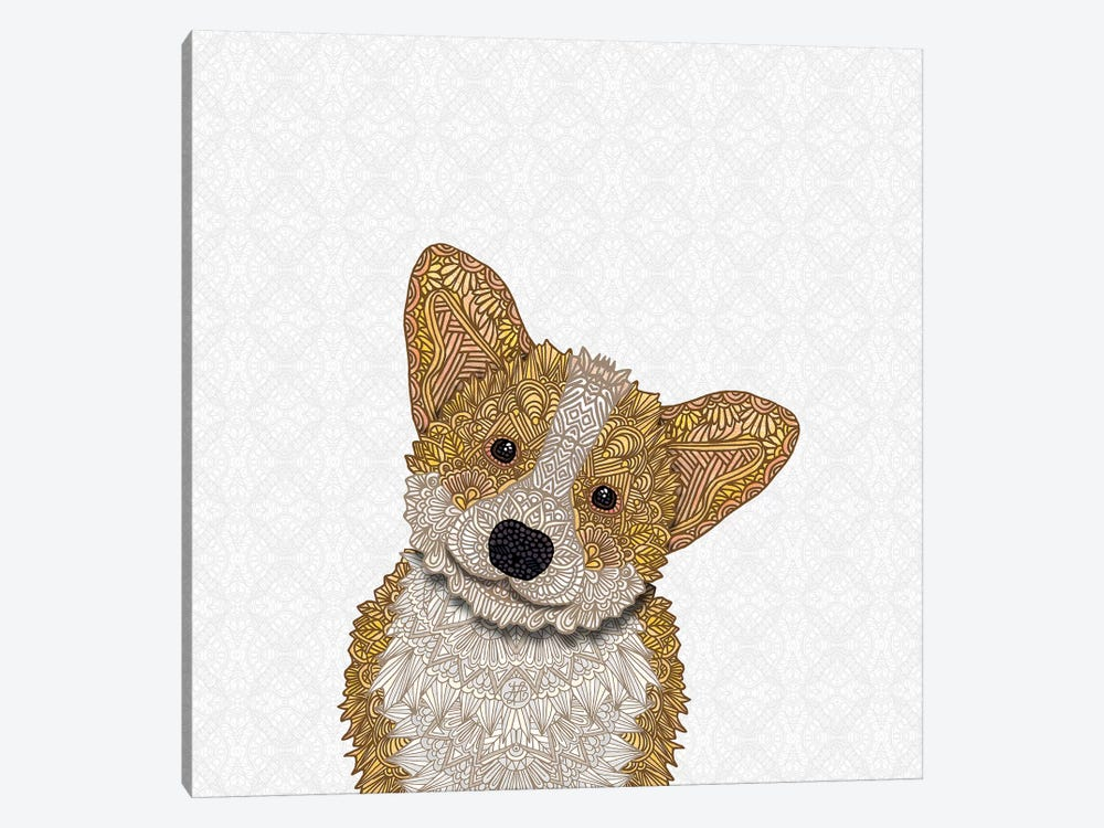 Cute Fawn Corgi by Angelika Parker 1-piece Canvas Artwork
