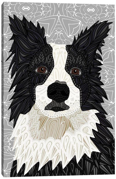 Border Collie by Angelika Parker Canvas Art Print