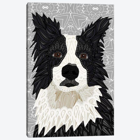 Border Collie Canvas Print #ANG13} by Angelika Parker Canvas Art