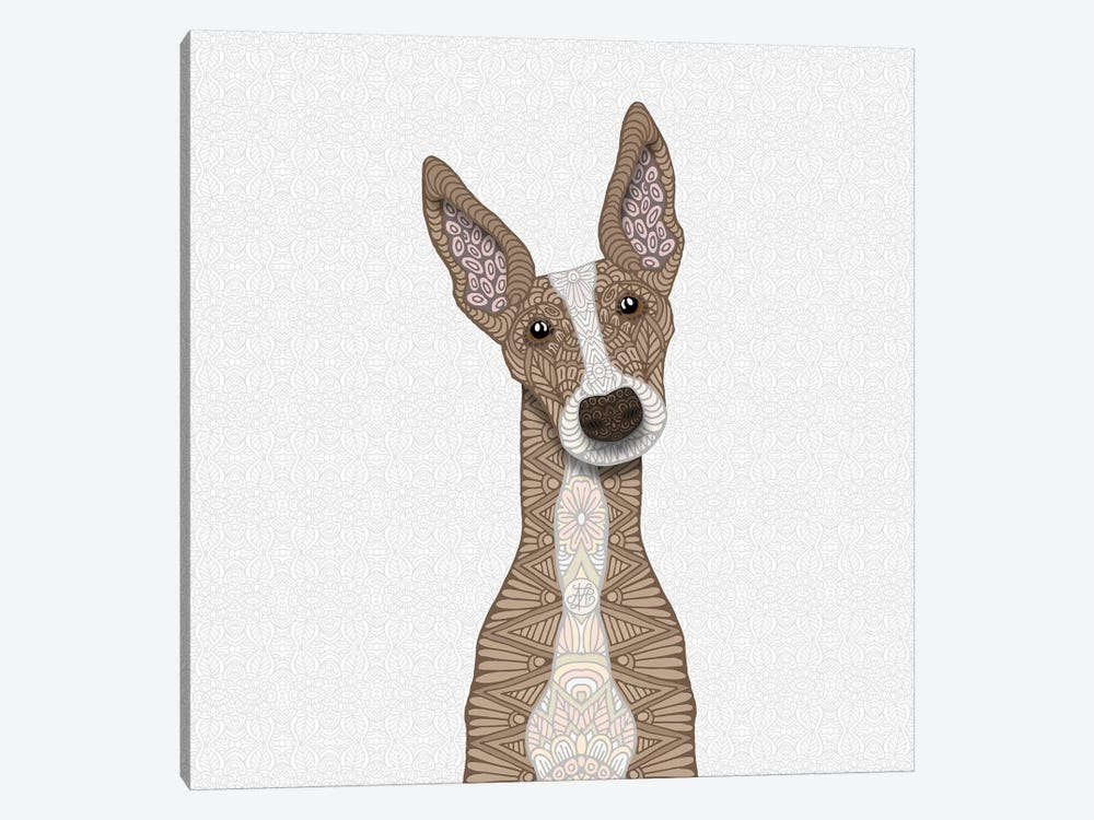 Cute Fawn Greyhound by Angelika Parker 1-piece Canvas Art