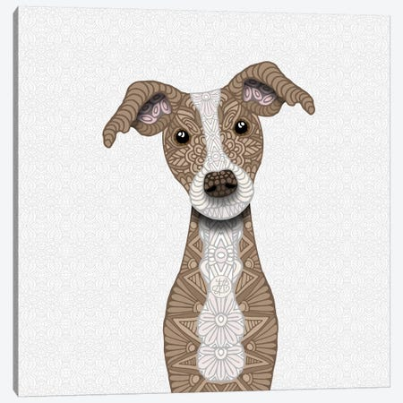 Cute Fawn Iggy Canvas Print #ANG141} by Angelika Parker Canvas Art Print