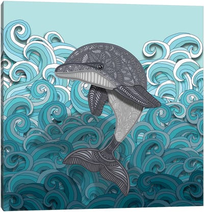 Dolphin by Angelika Parker Canvas Art Print