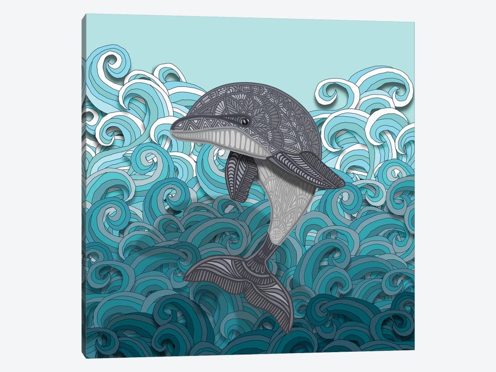 Dolphin by Angelika Parker 1-piece Canvas Art